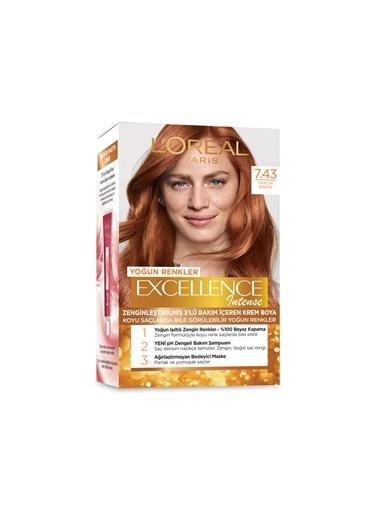 L'Oréal Paris Loreal Excellence Intense Saç Boyası 7.43 Tarçın Bakırı Renkli